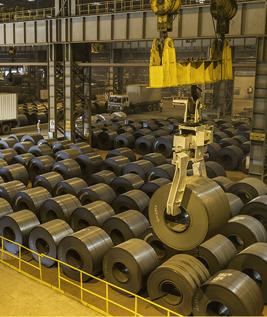 Stainless Steel Hot Rolled Coils at Jindal Stainless shopfloor