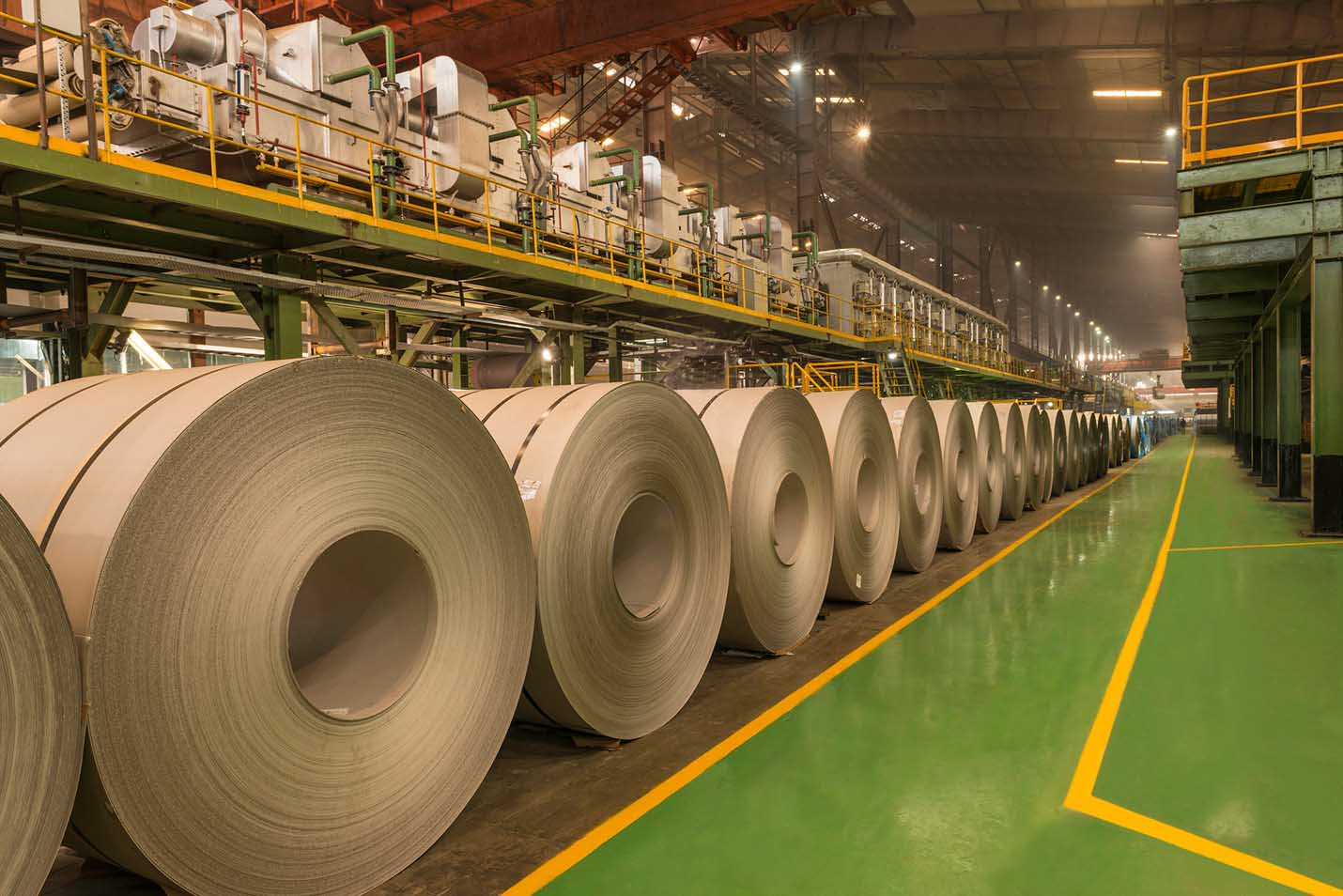 Cold Rolled Stainless Steel coils at Jindal Stainless plant in Hisar, Haryana