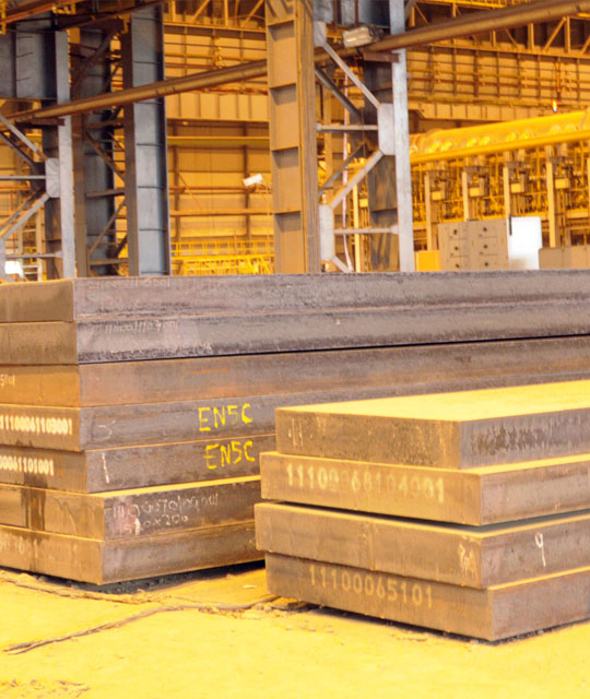 Stainless Steel slabs at Jindal Stainless plant